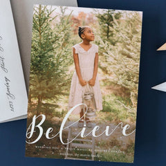 Believe Christmas Photo Card