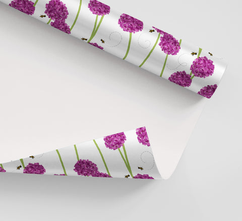 Garden Bees Wrapping Paper