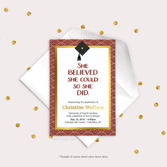 Art Deco Graduation Invitation