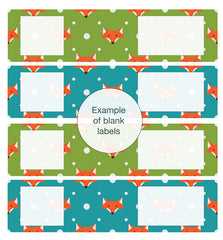 Decorative Mail Labels and Envelope Wraps - Foxes