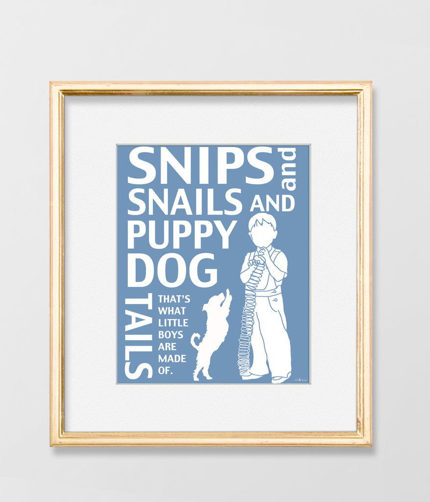 Snips and Snails & Puppy Dog Tails Art Print