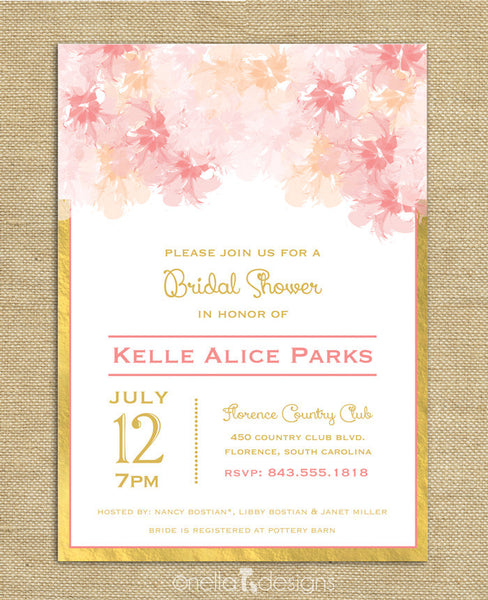 pink and gold wedding invitations blush and gold bridal shower invitations blush and gold 6559