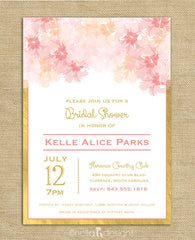 blush and gold bridal shower invitations, blush and gold wedding invitations, blush pink save the dates
