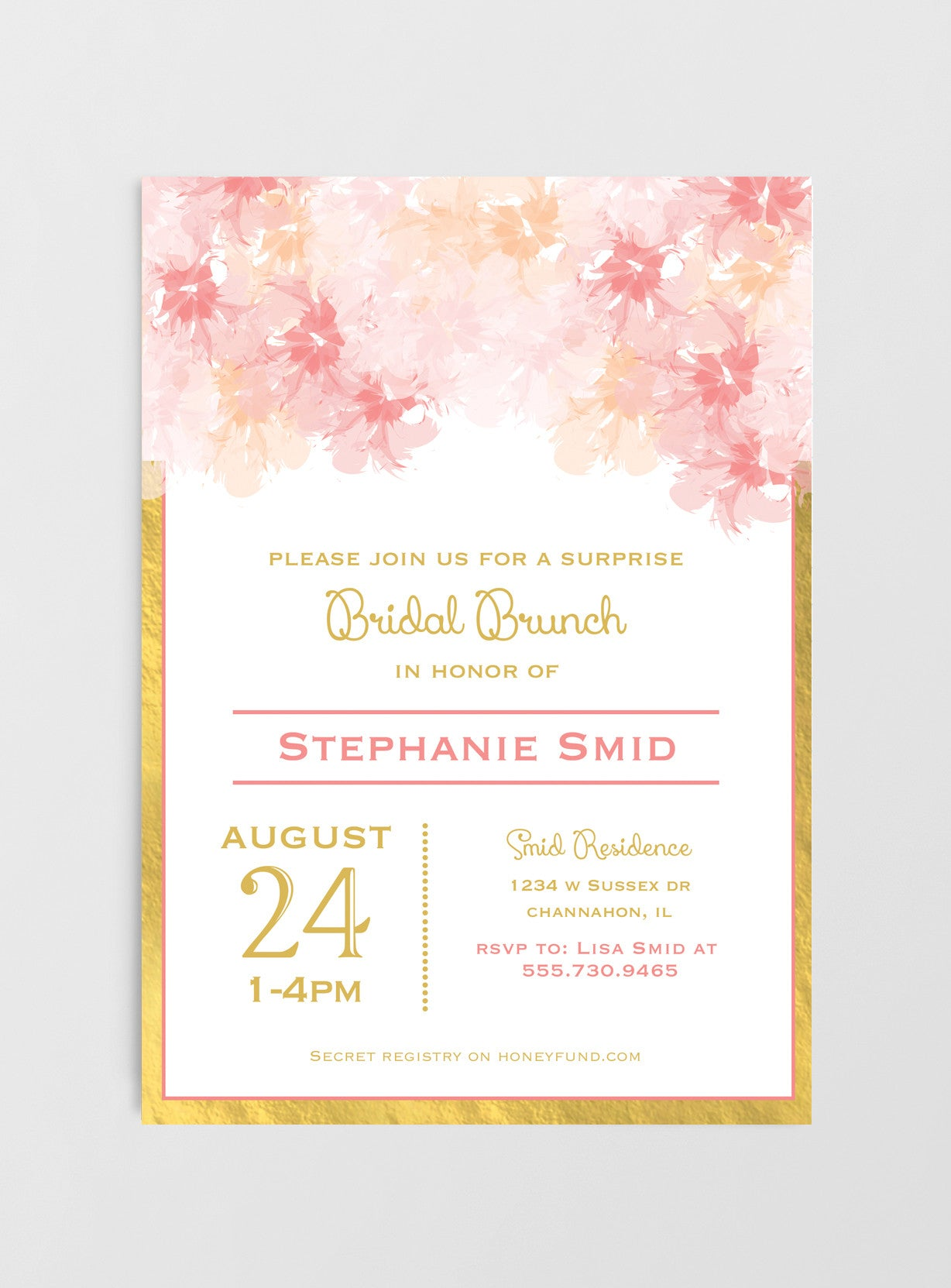 customized invitation on printed jellyfishprintables etsy rose shower diy bridal you pin pink printable invites for or gold by sequins