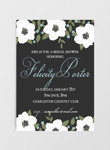 Elegant Black & White Invitations