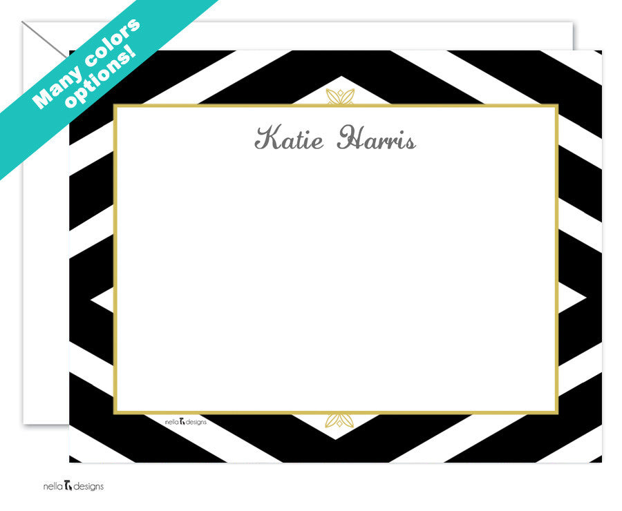 Chevron Pattern Custom Stationery