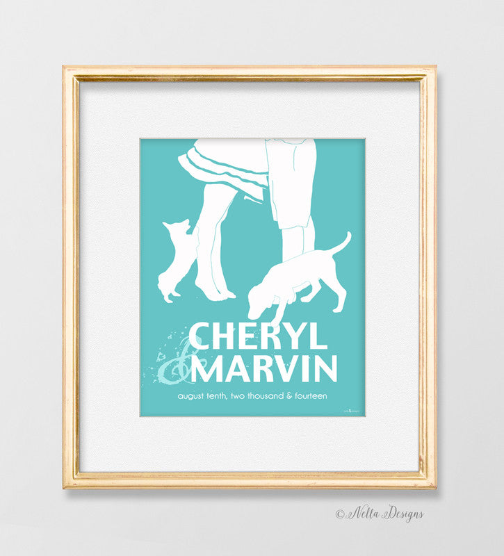 Choose your breed - Personalized couples print