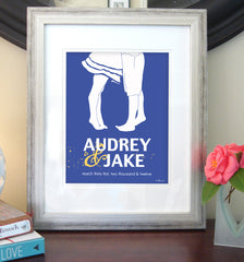 Personalized Couple's Print with special date