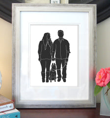 Custom Silhouette Print with Details (made from your photo)