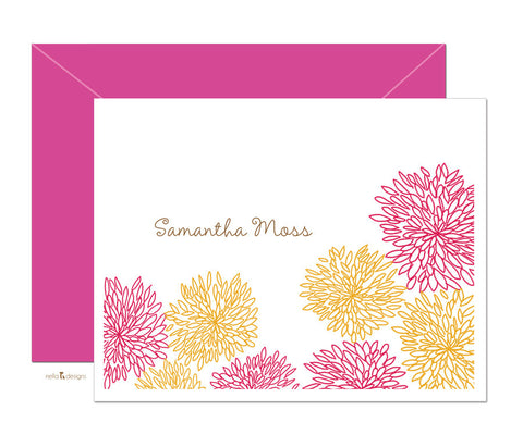 Customizable Dahlia Stationery