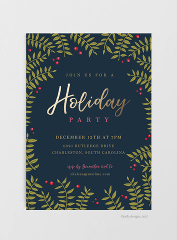 Christmas Party Invitation Download