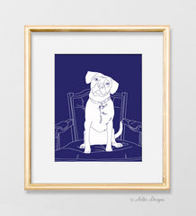 Custom Pet Silhouette Print (made from your photo)