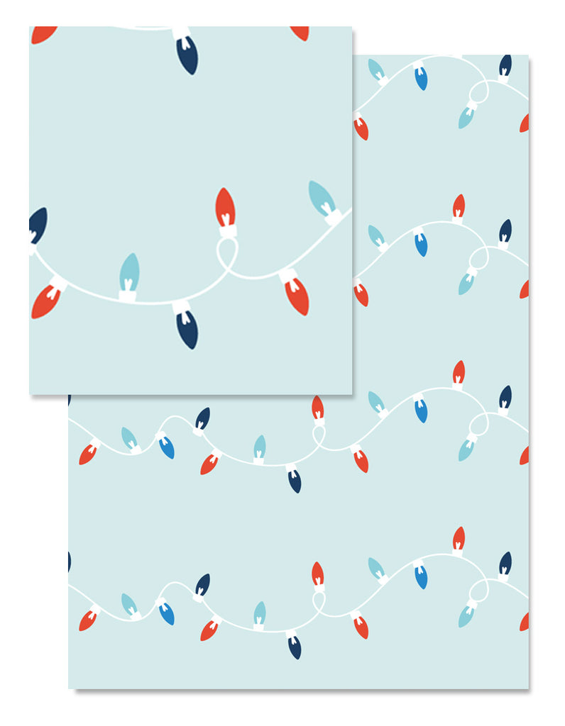 Holiday Lights Wrapping Paper