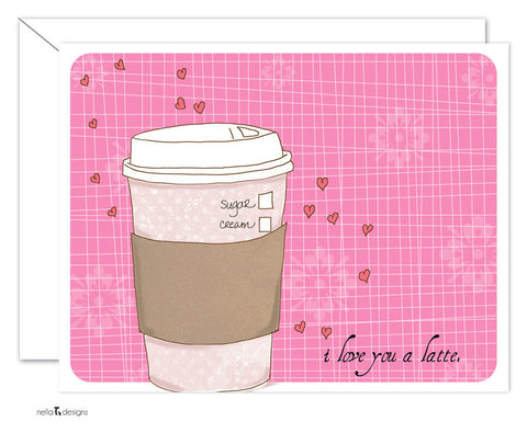 I love you a Latte folded card