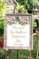 Printable Wedding Directional Sign