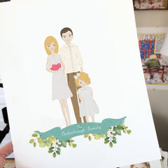Illustrated Family Portraits
