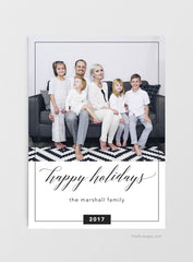 Modern Christmas Photo Card Download