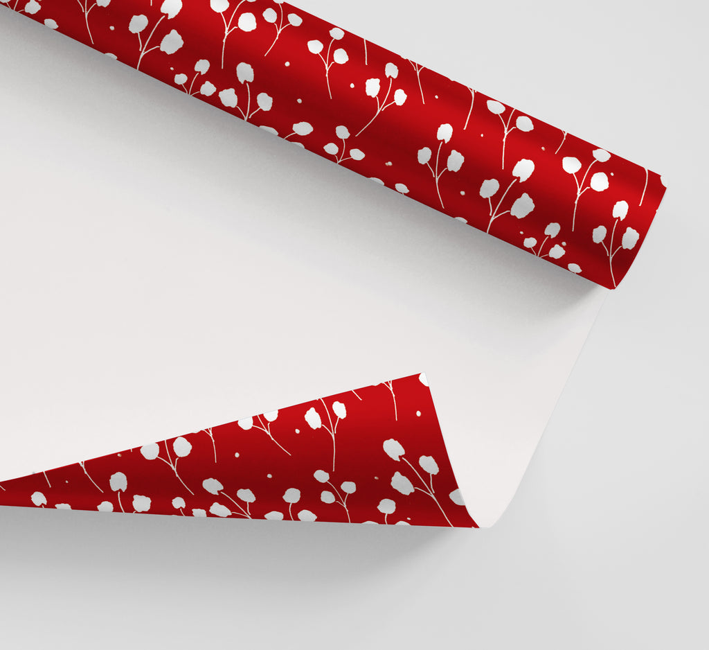 Red Poppies Wrapping Paper