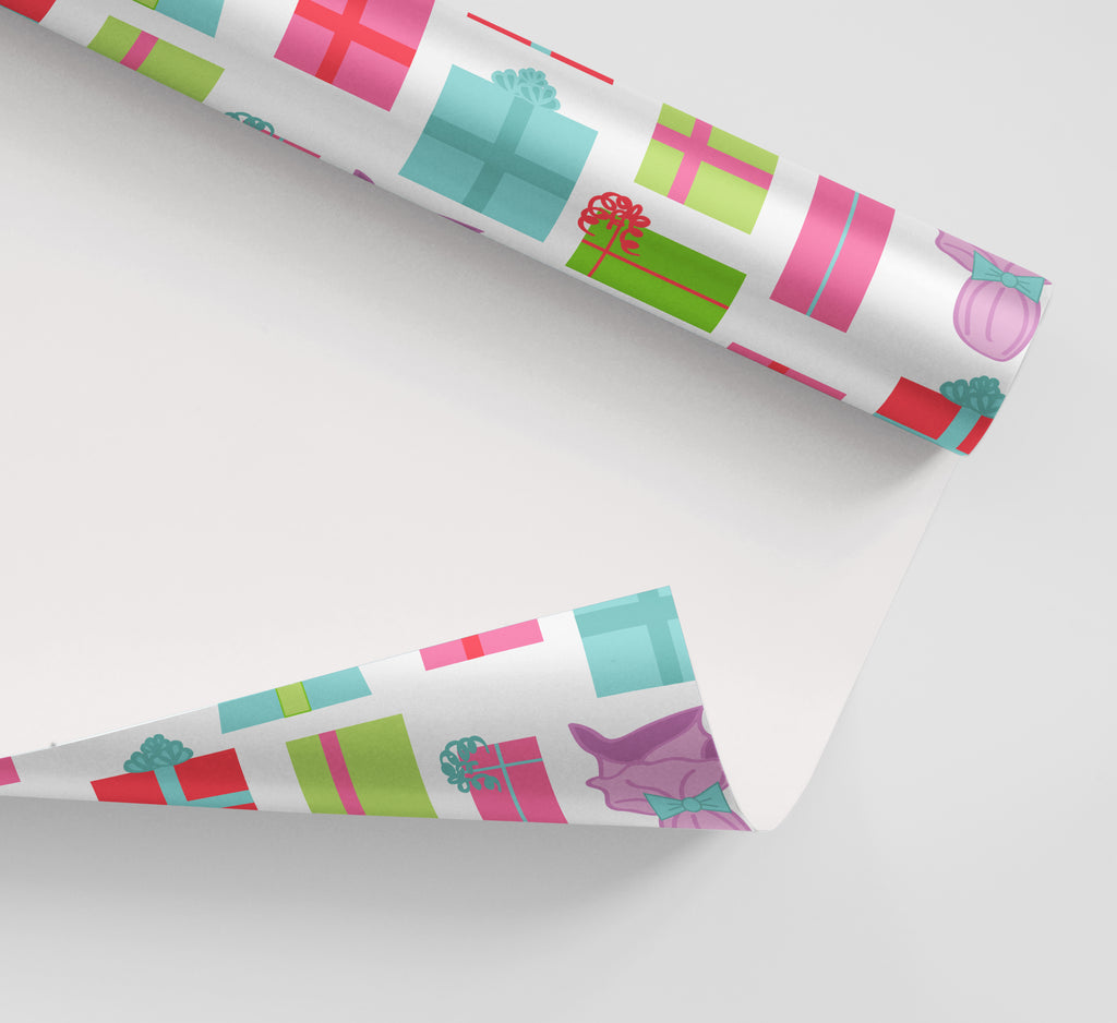 Retro Presents Wrapping Paper