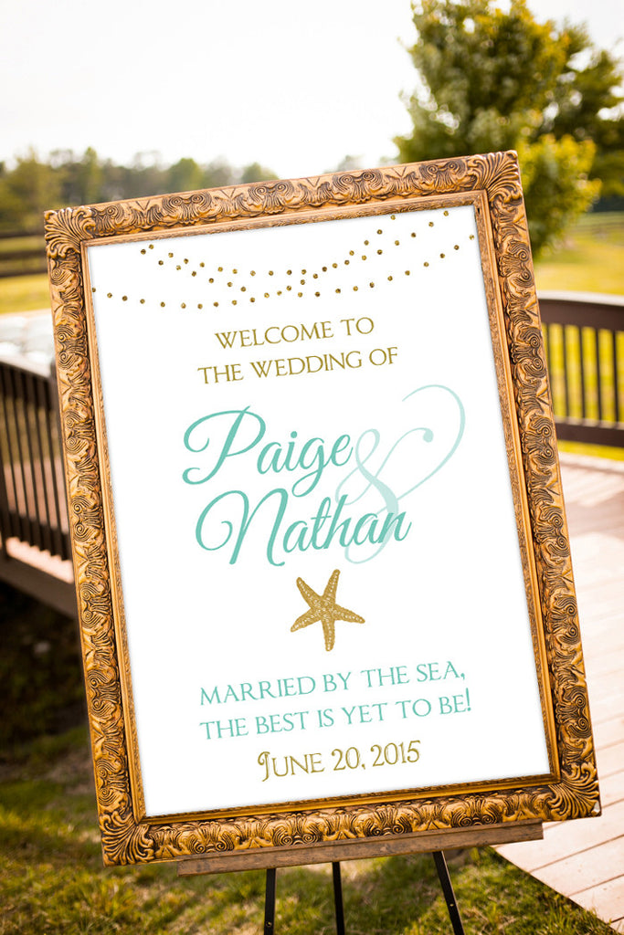Printable Beach Wedding Sign