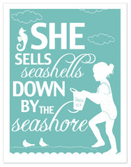 She Sells Seashells Print