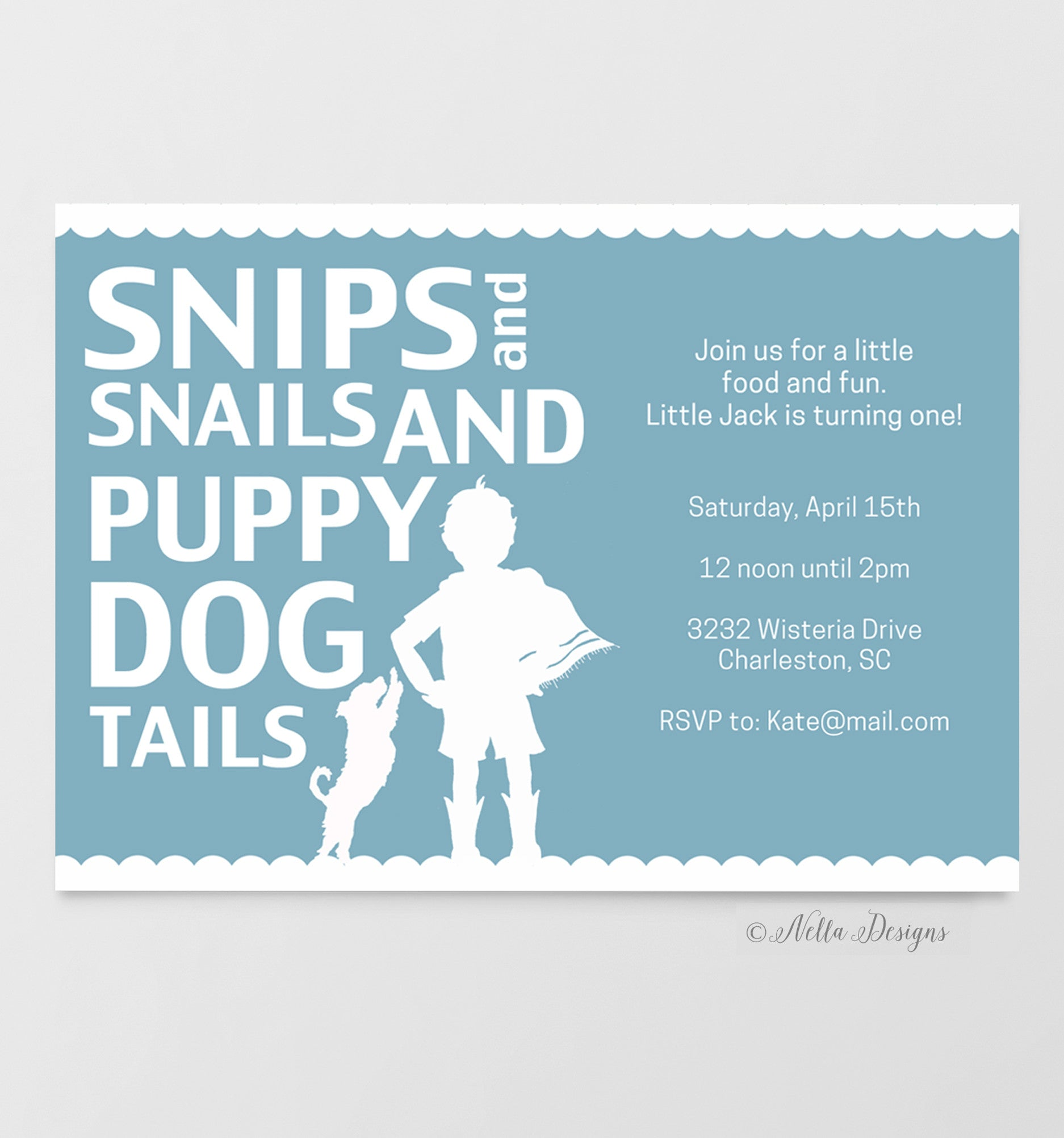 snips and snails birthday party invitations, baby shower invitations ...