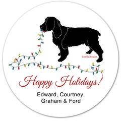 Custom Dog Breed and Cat Holiday Labels