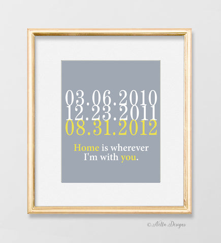 Home is Wherever I'm with You - Special Dates Print