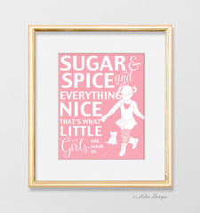 Sugar and Spice Pink Nursery Print