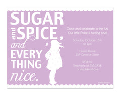Sugar and Spice Invitations