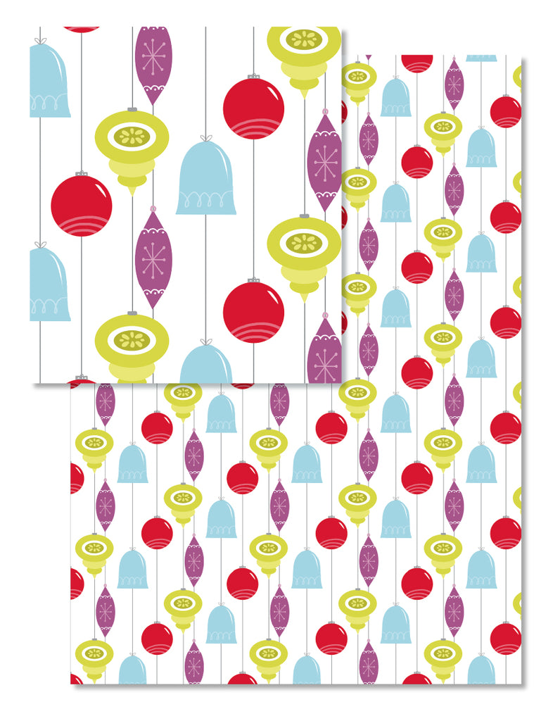 Retro Ornaments Wrapping Paper