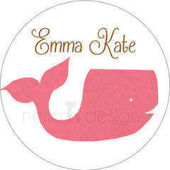 Personalized Whale Address Labels or Planner Stickers