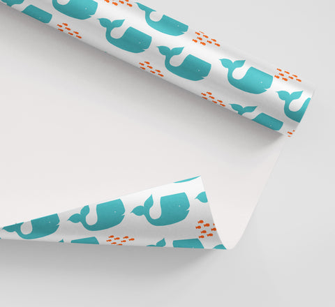 Whales Wrapping Paper