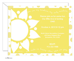 You Are My Sunshine Invitations / Polka Dots