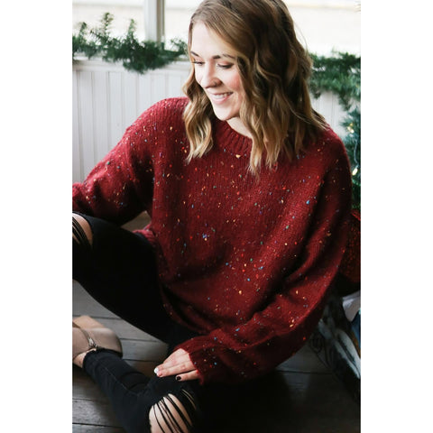 Cranberry Confetti Sweater