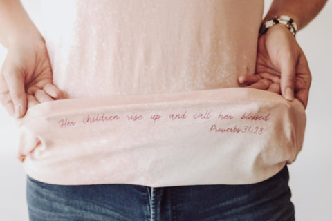 Mama Hidden Scripture Tee by The Light Blonde