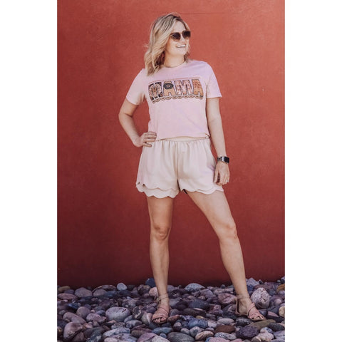 Phoebe Scalloped Shorts