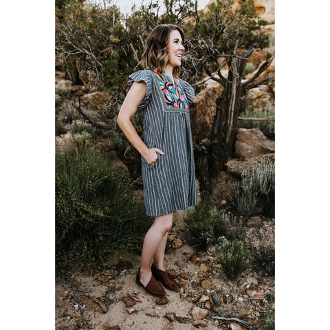 Mexico Pin Stripe Dress