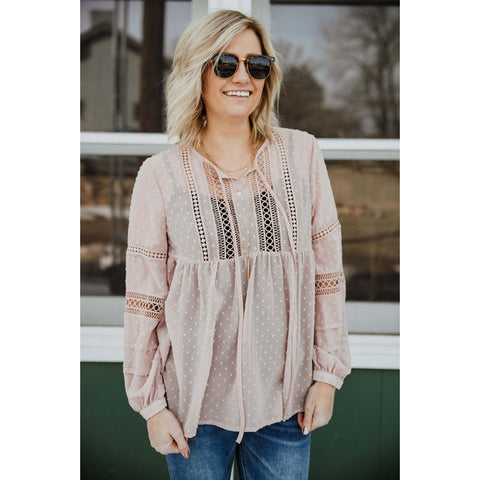 Blushing Lavender Blouse