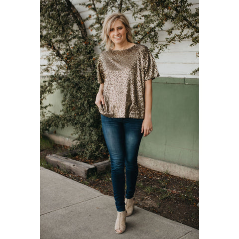 Mocha Sequins Blouse