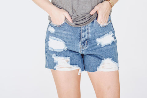 Dark Washed Denim Shorts
