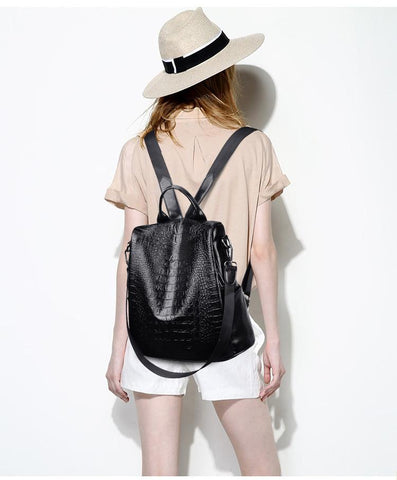 Stacey Snakeskin Backpack