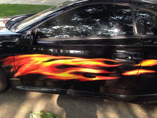 Flame Side Auto Decals Full Color Flames On Celica Flame