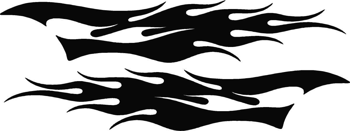 Race car decals, truck vinyl graphics, flames auto decals | Xtreme ...