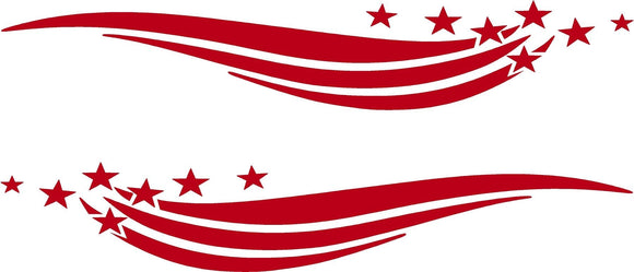 stars and stripes car decals