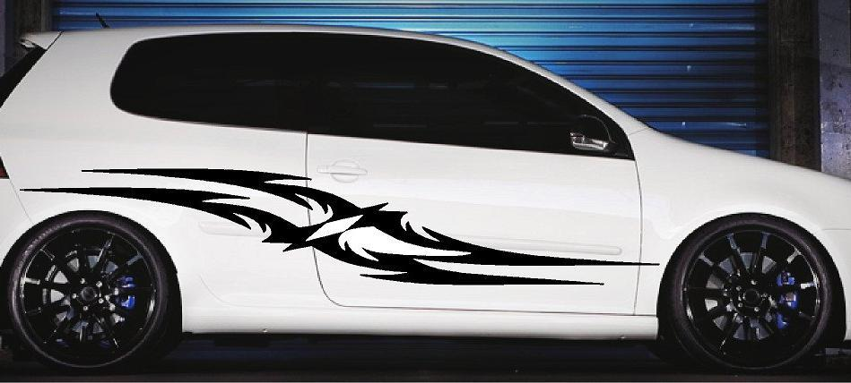 tribal stripes auto decals