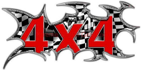4x4 checkers vinyl stricker for truck