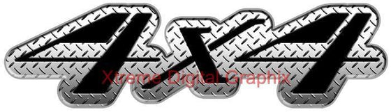 4x4 diamond plate truck sticker decals