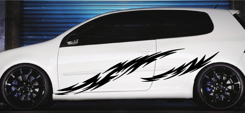 tribal flames car decals
