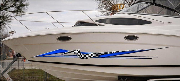 Astro Checker Flag Boat Graphic Decals Kit Xtreme